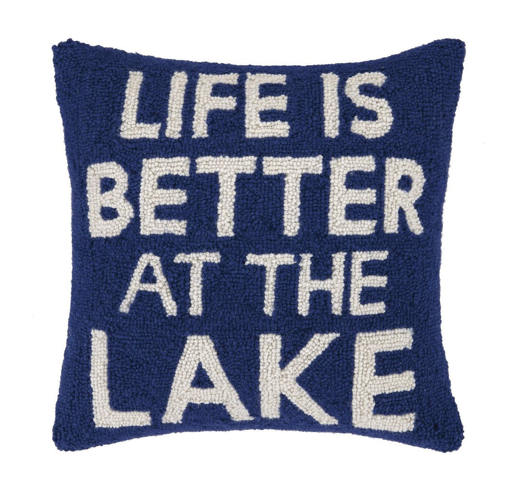 Life Is Better Lake Pillow