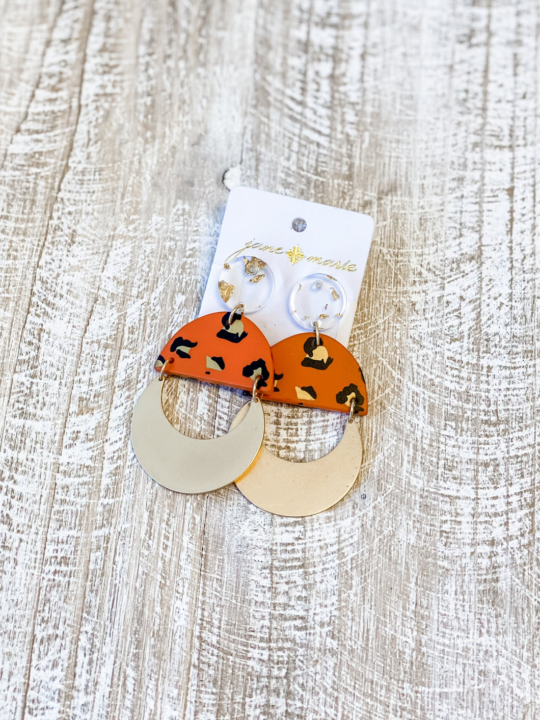 Orange Leo Earrings