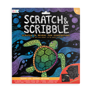 Scratch and Scribble Art Kit - Ocean Life
