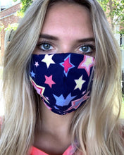 Load image into Gallery viewer, Navy Star Mask (Women's)