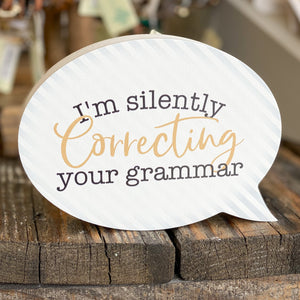 Correcting Your Grammar Wooden Block