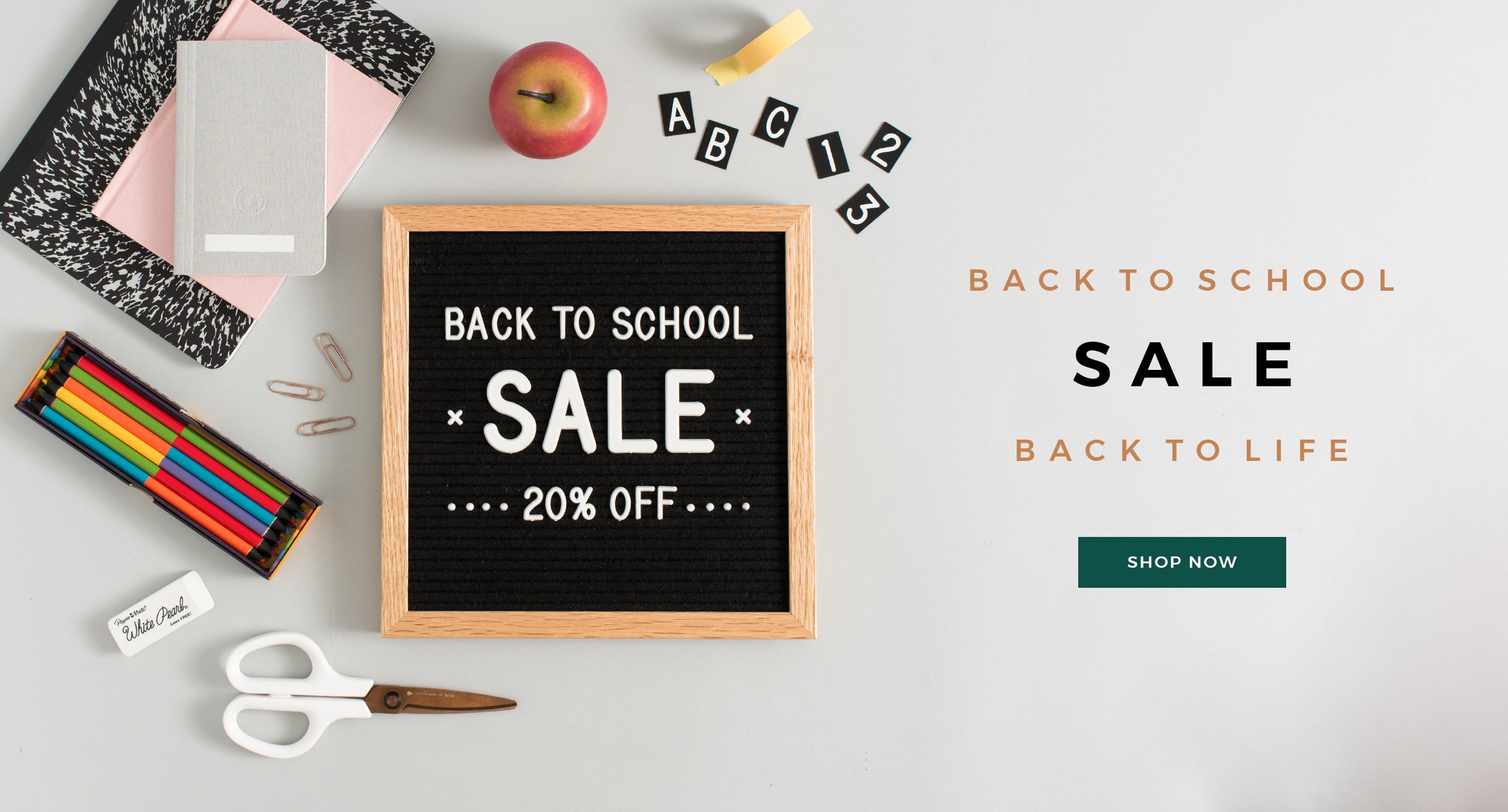 Back to School Sale at Letterfolk