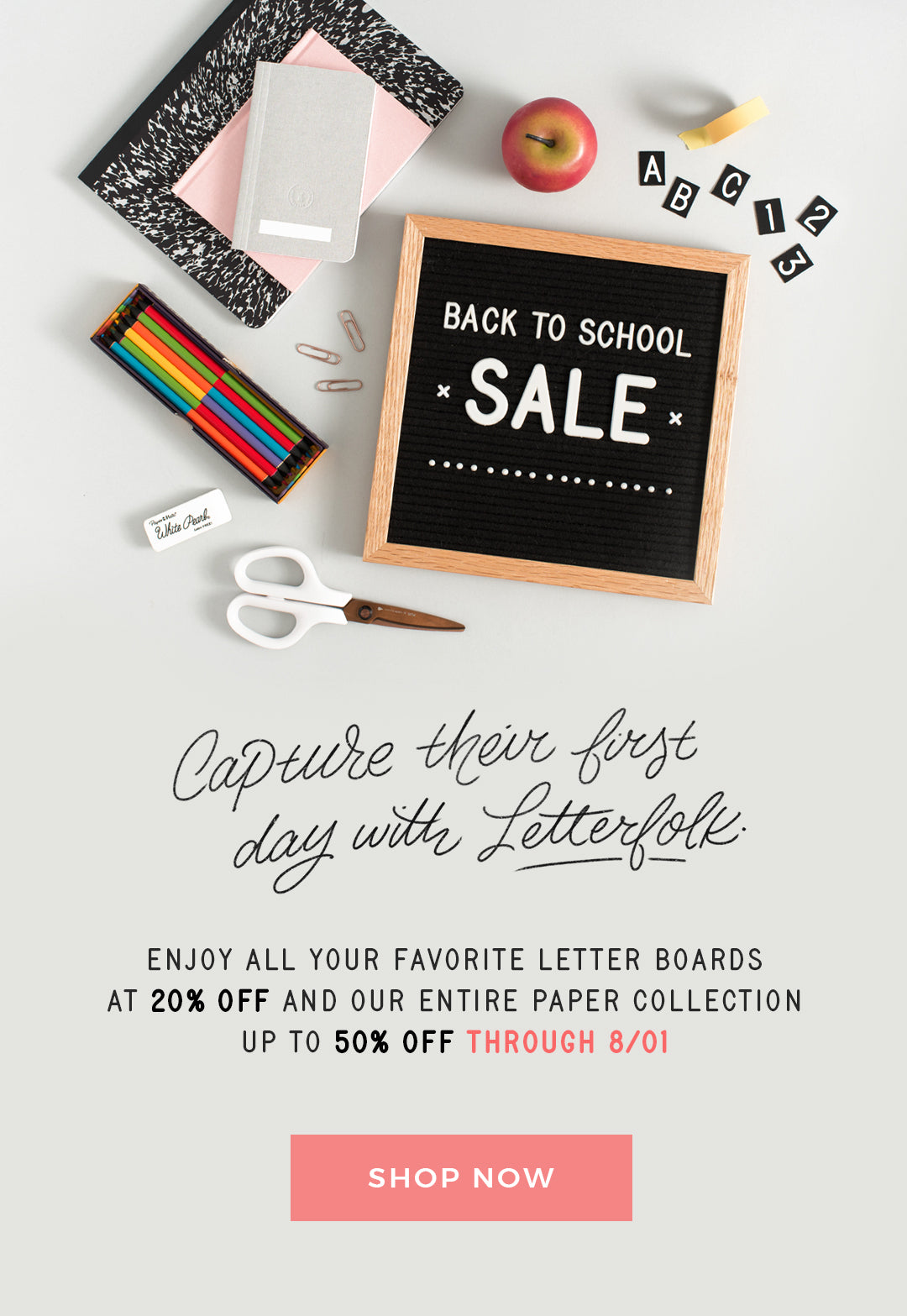 Letterfolk's Back to School Sale