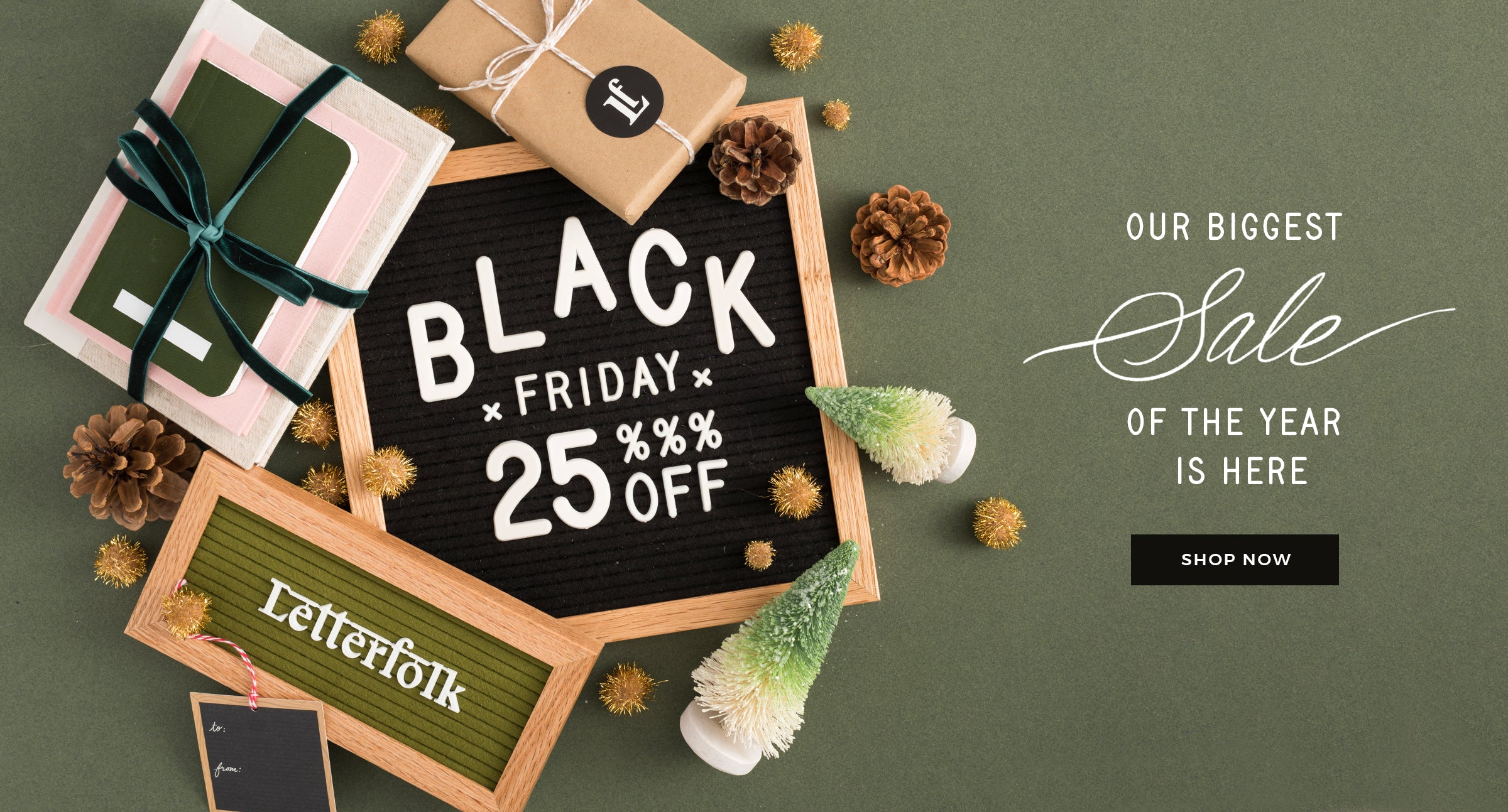 Black Friday Sale at Letterfolk