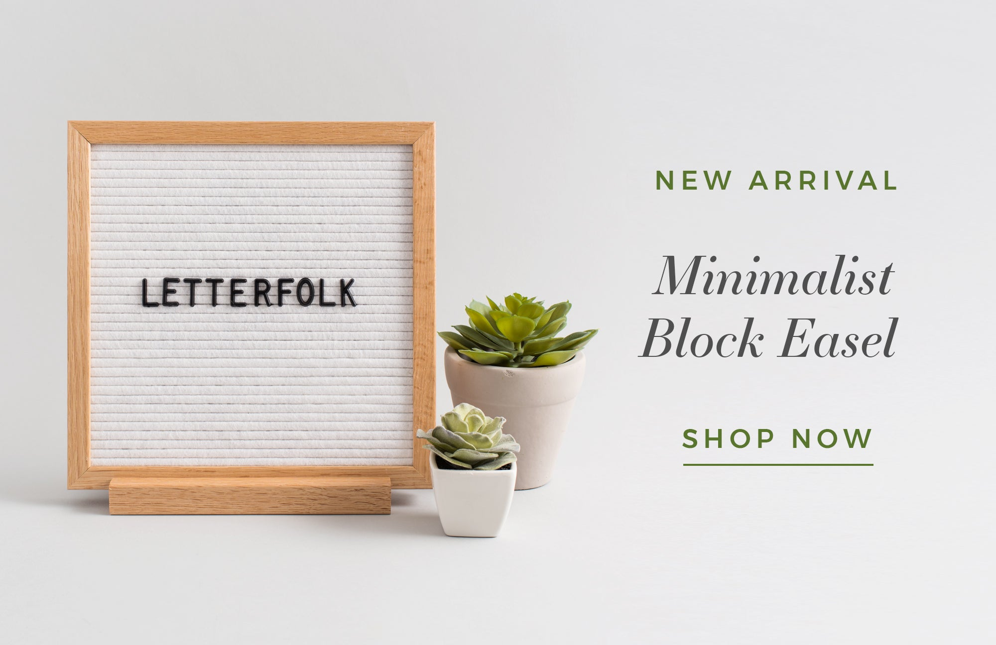 Minimalist Block Easel by Letterfolk