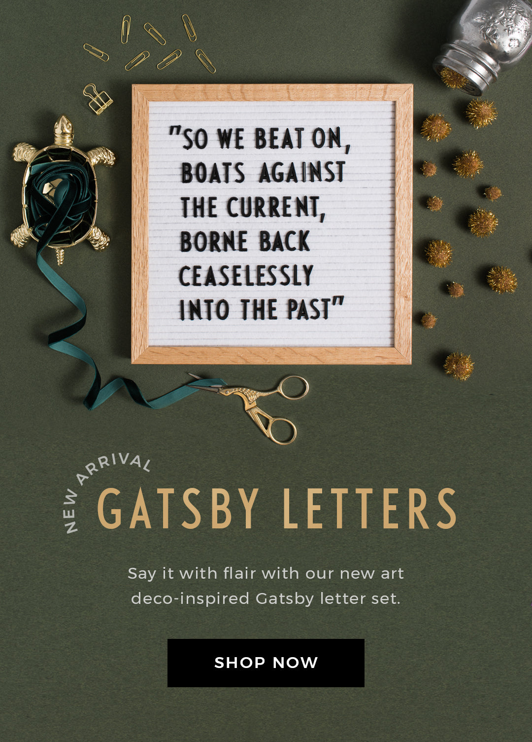 Gatsby Letter Set by Letterfolk