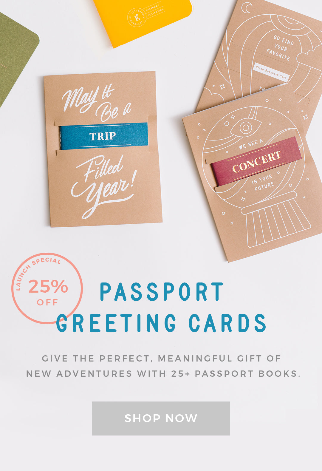 Passport Greeting Cards by Letterfolk