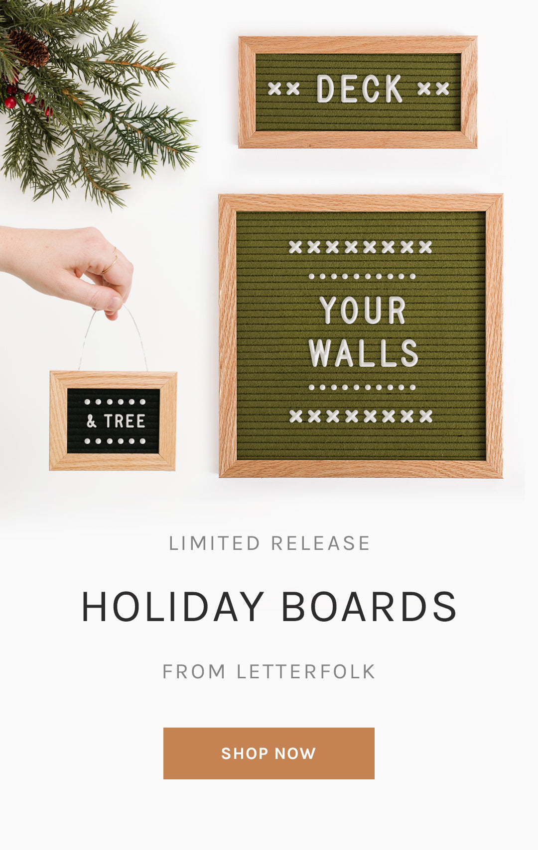 Limited Release Holiday Boards from Letterfolk