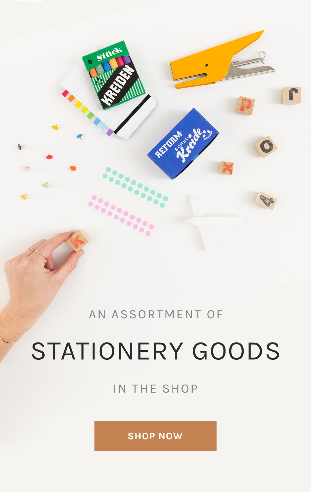 An Assortment of Retro Stationery Goods in the Shop