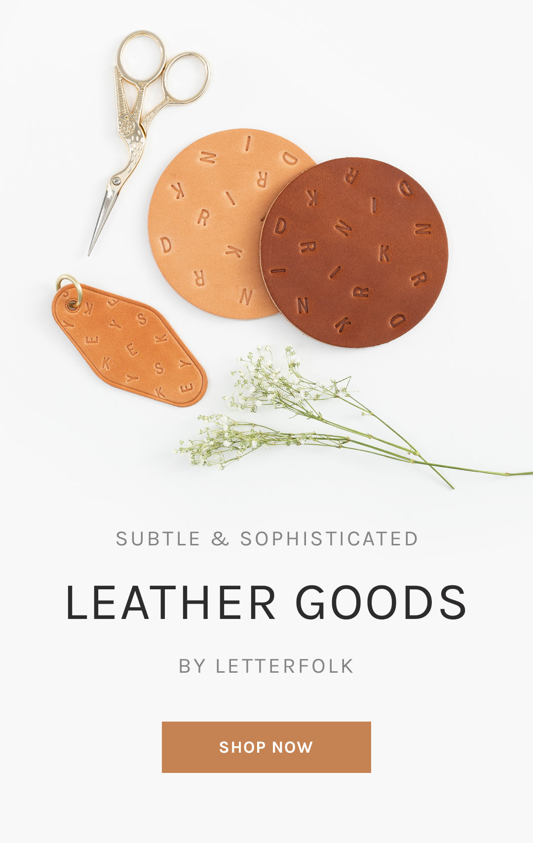 Subtle & Sophisticated Leather Goods by Letterfolk