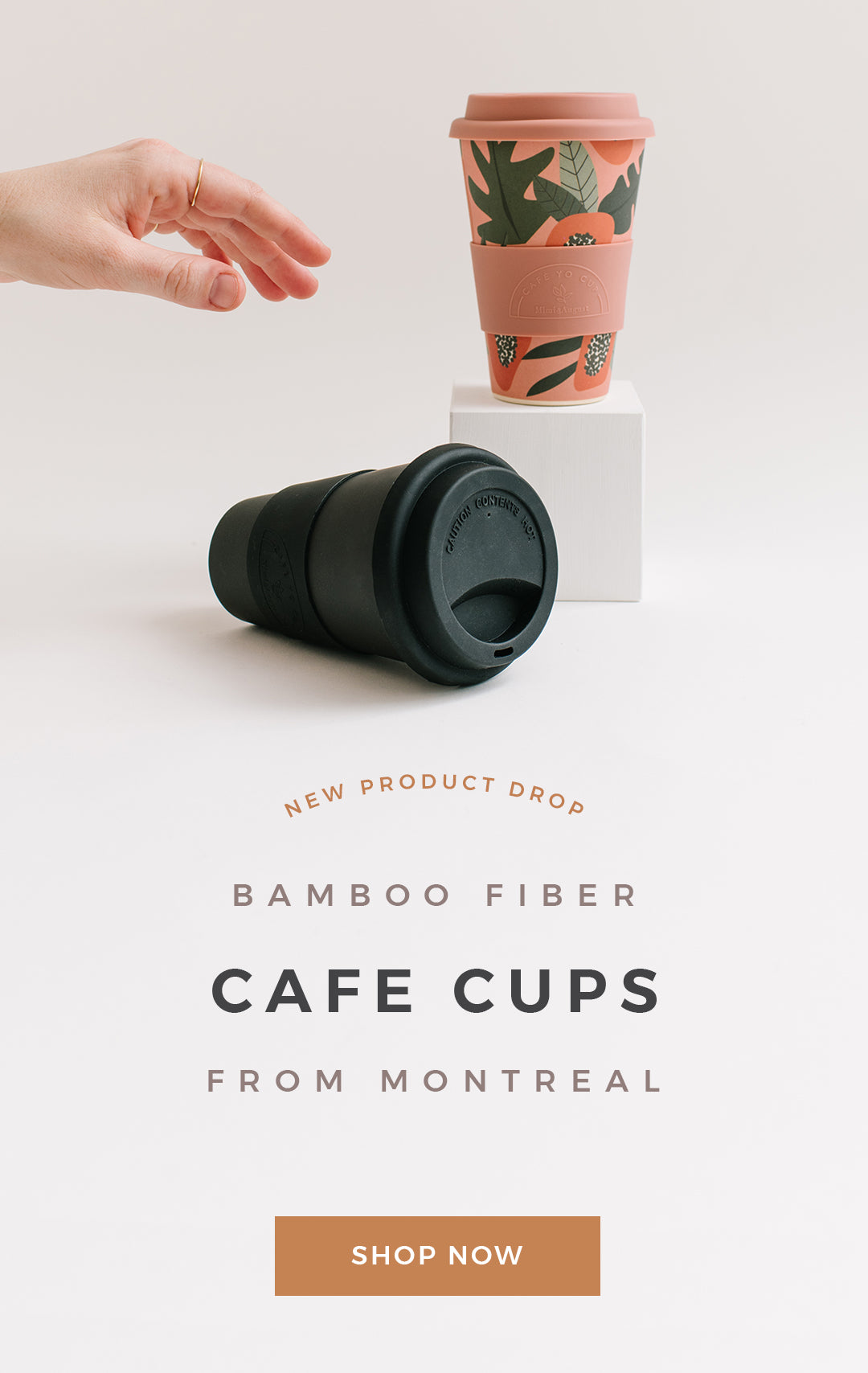 Bamboo Fiber Cafe Cups from Montreal