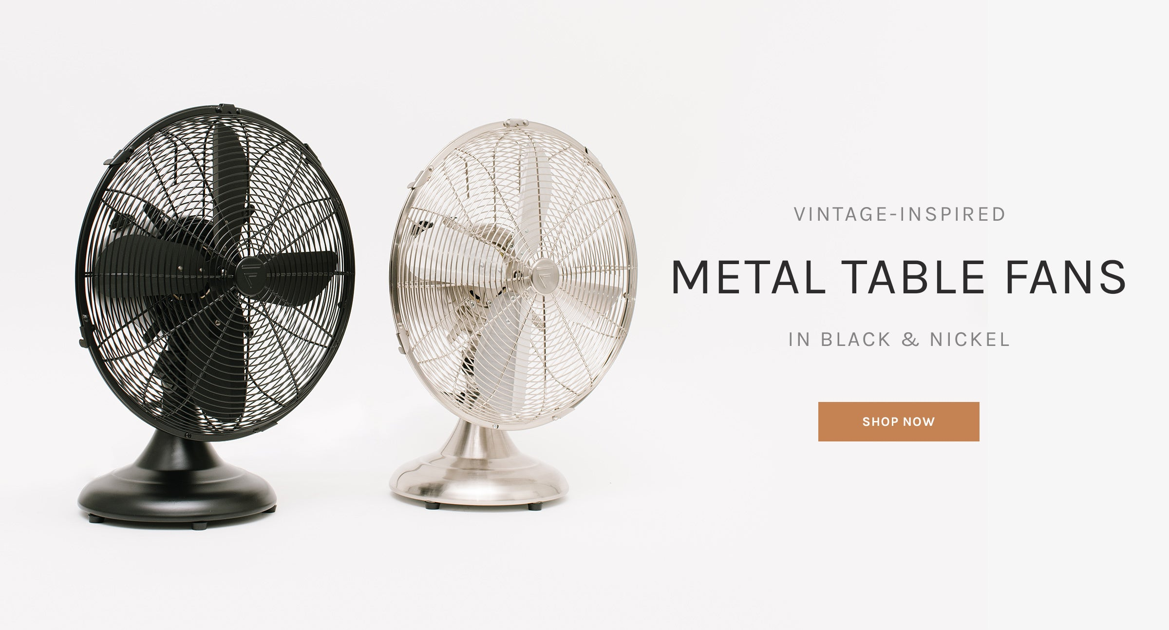 Vintage-Inspired Metal Table Fans