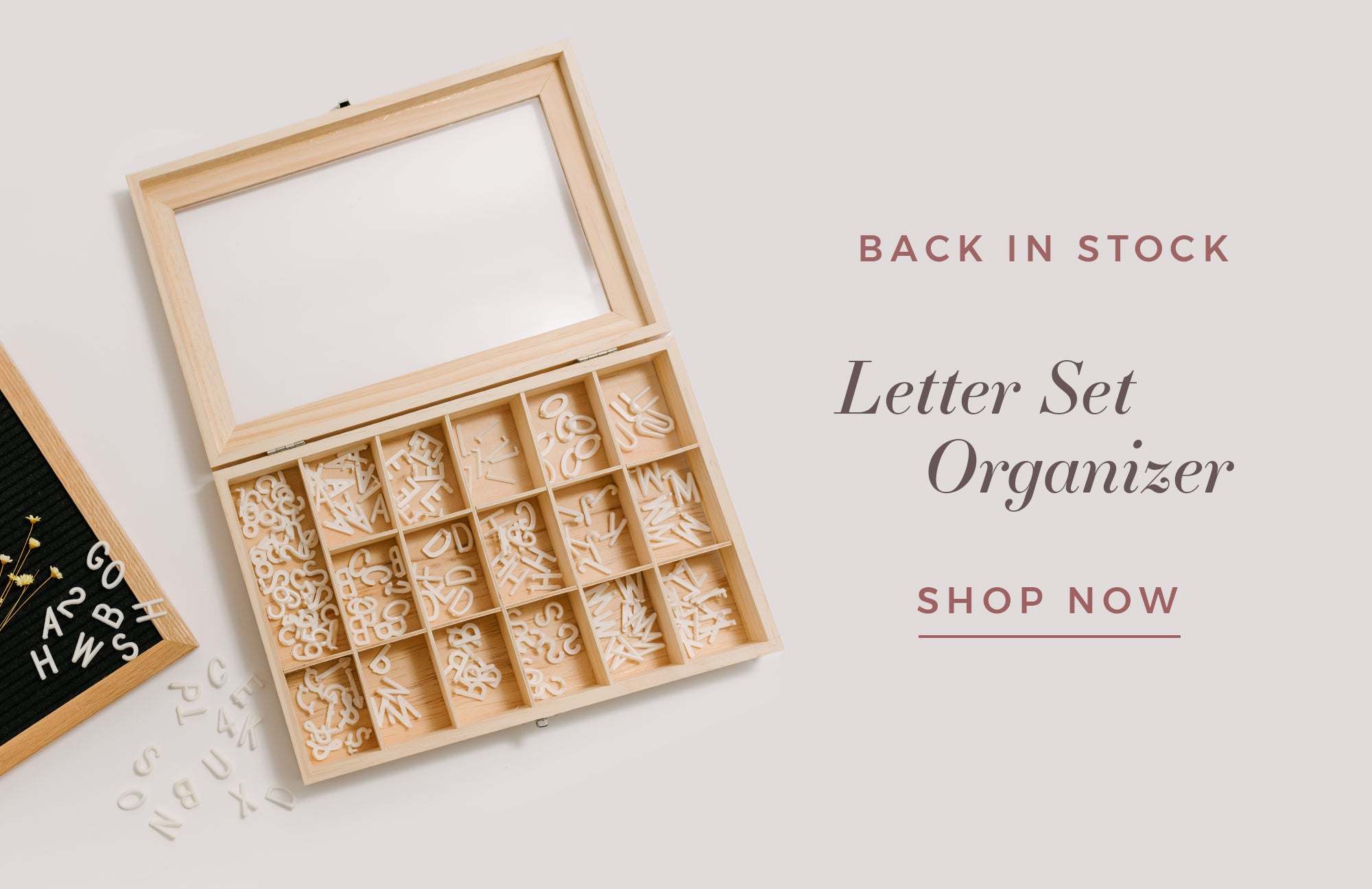Letter Set Organizer by Letterfolk