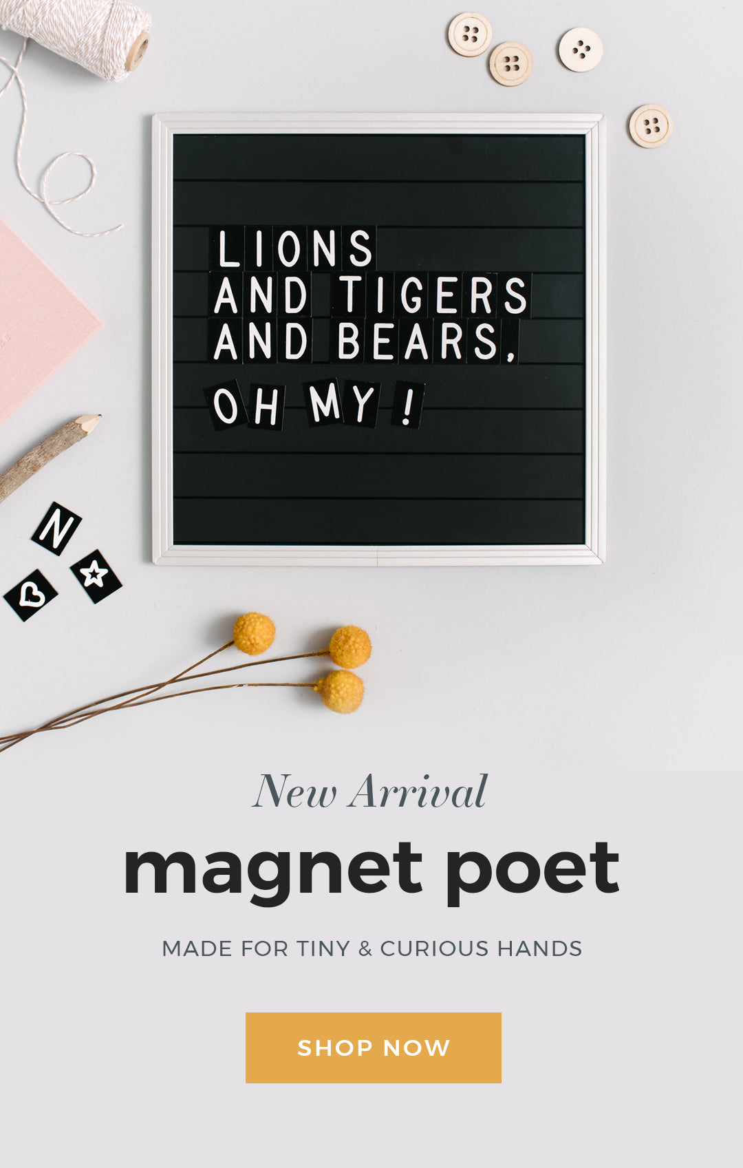 Introducing the Magnet Poet Letter Board for Kids