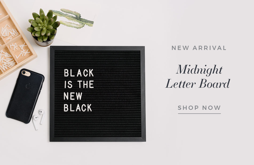 Midnight Letter Board Collection by Letterfolk