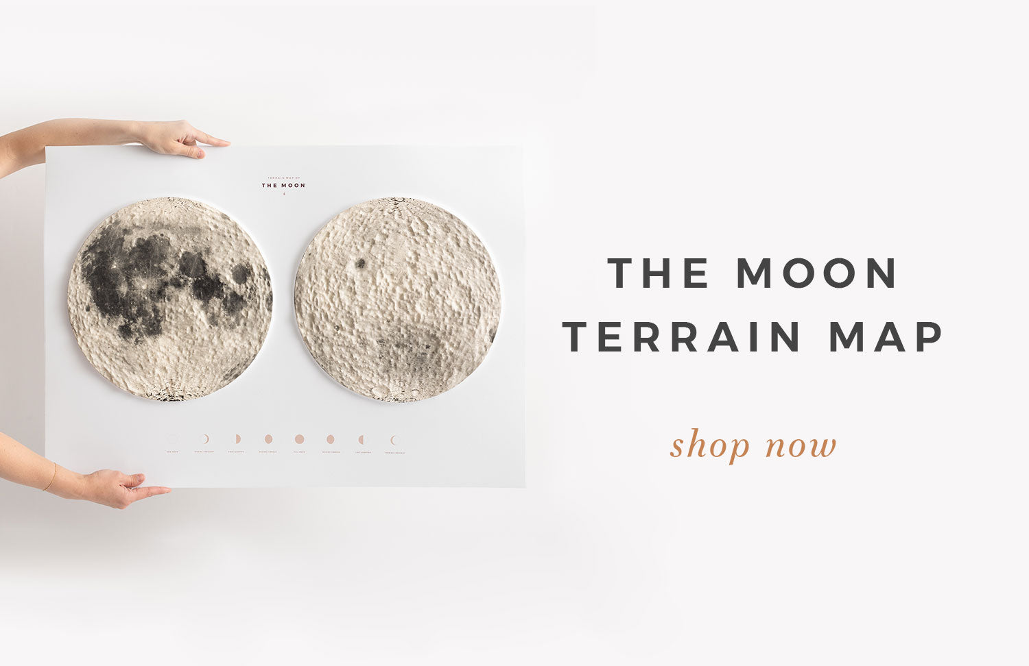 Terrain Map of the Moon by Letterfolk