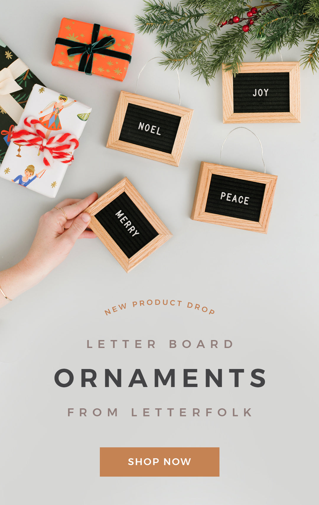 Letter Board Ornaments by Letterfolk