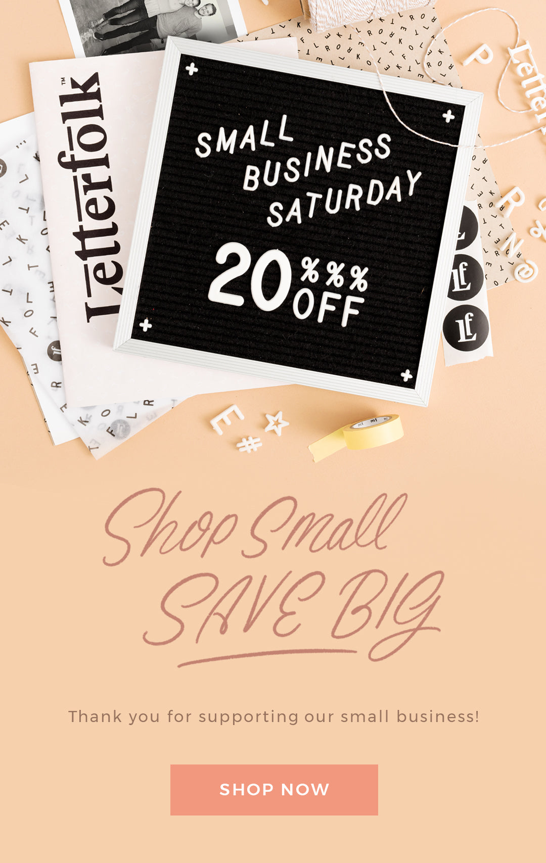 Letterfolk's Small Business Saturday Sale