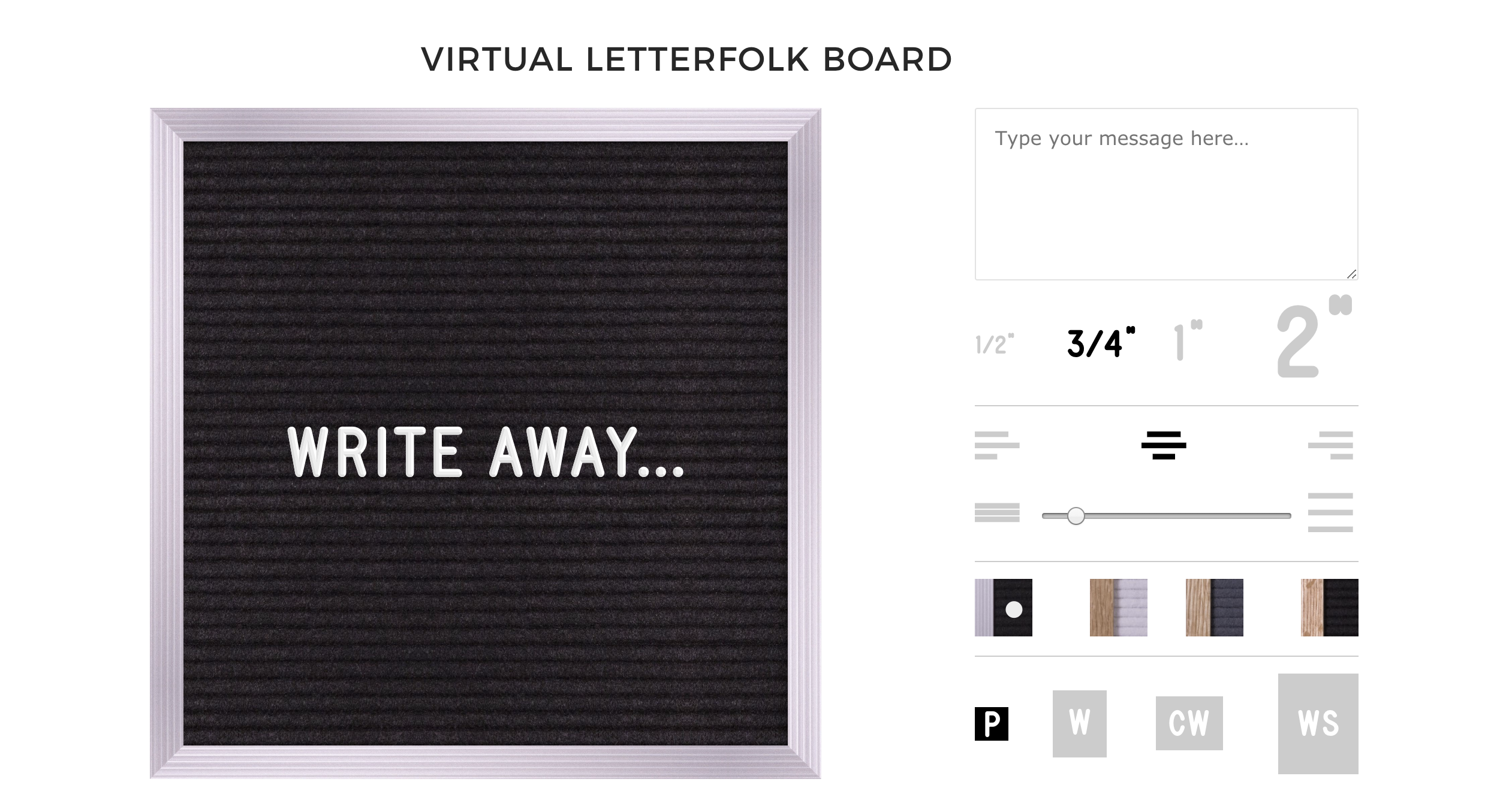 Virtual Letter Board Letterfolk