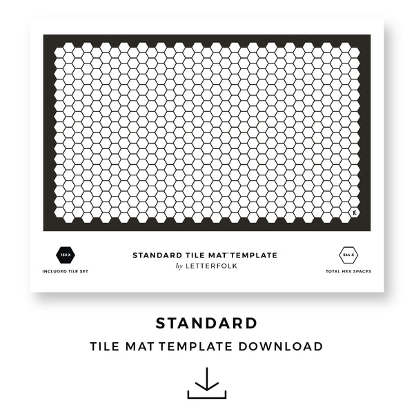 Standard Tile Mat Printable Template