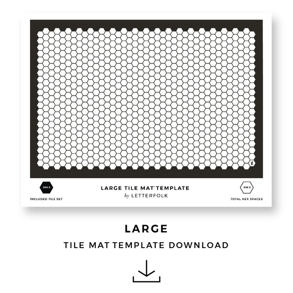 Large Tile Mat Printable Template