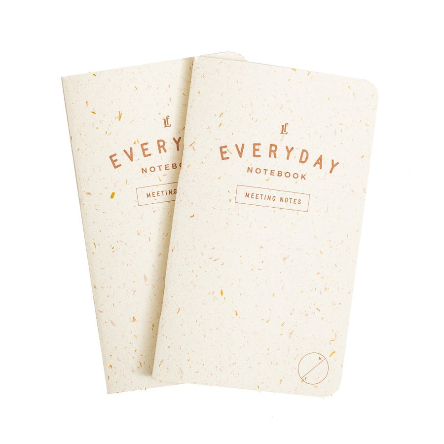 Everyday Meeting Notes Notebook 2-Pack - Letterfolk