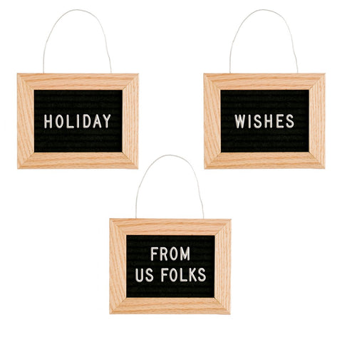 Letter Board Ornament - Letterfolk