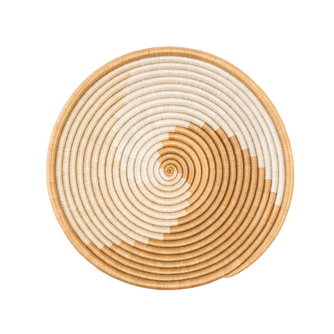 Natural Swirl Woven Bowl - Letterfolk