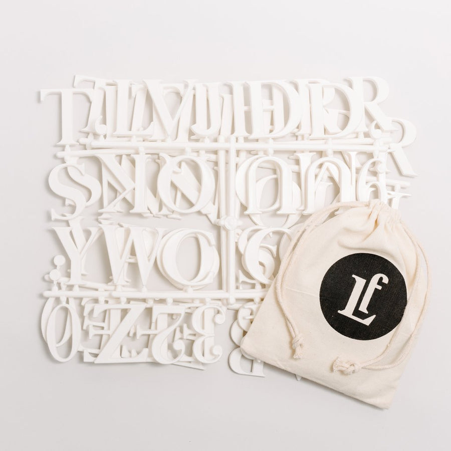 Additional Roman Letter Sets - Letterfolk