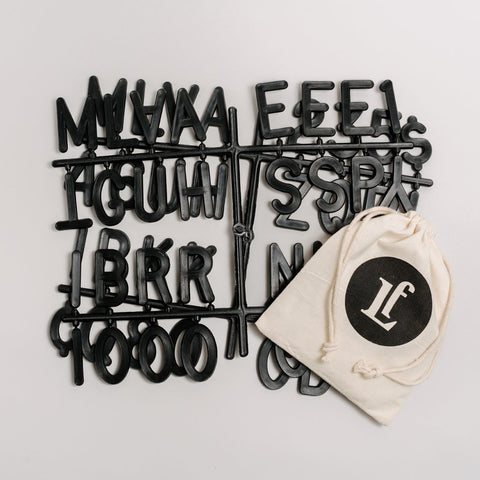Additional Sans Black Letter Sets - Letterfolk