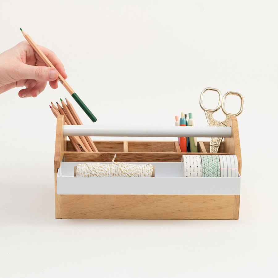Wood Desk Caddy - Letterfolk
