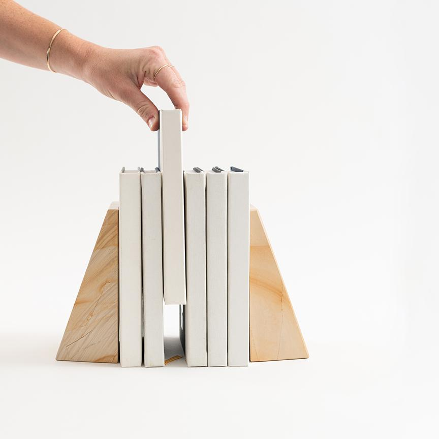 Marble Bookends - Letterfolk
