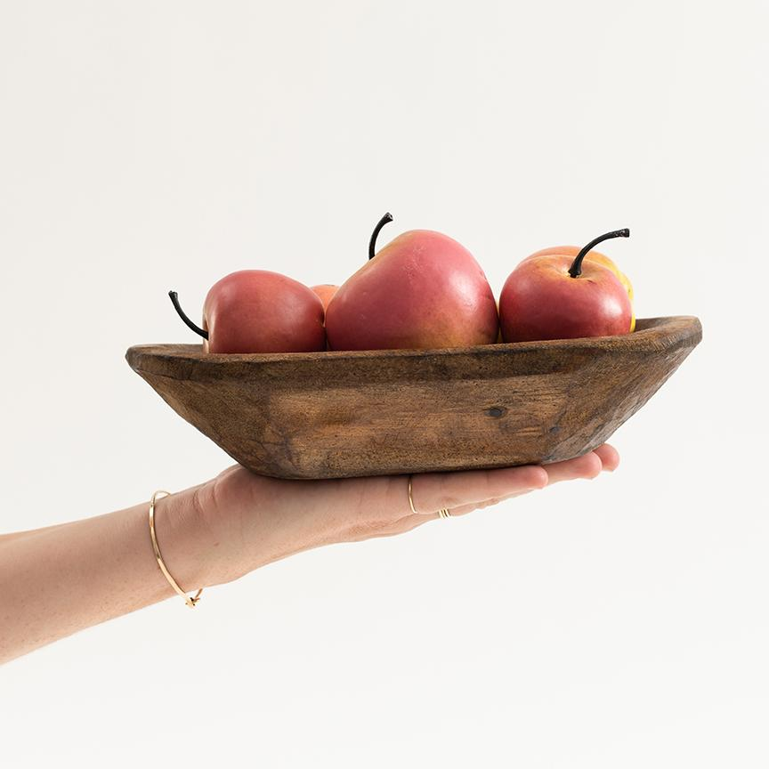 Natural Wood Bowl - Letterfolk