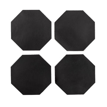 Leather Hex Coasters - Letterfolk