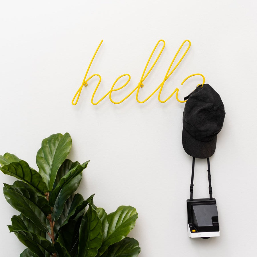 Hello Coat Rack Sign - Letterfolk