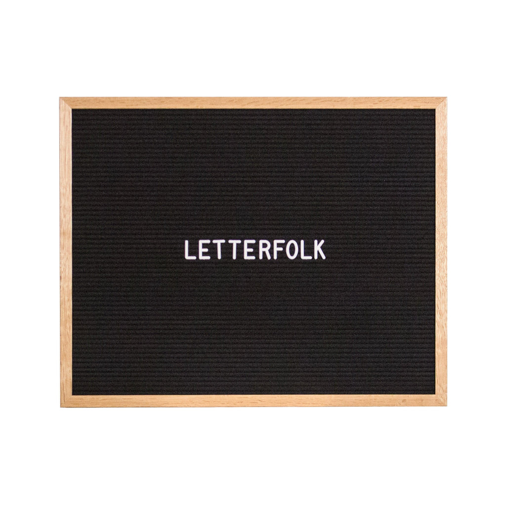 Copywriter Oak letter board by Letterfolk