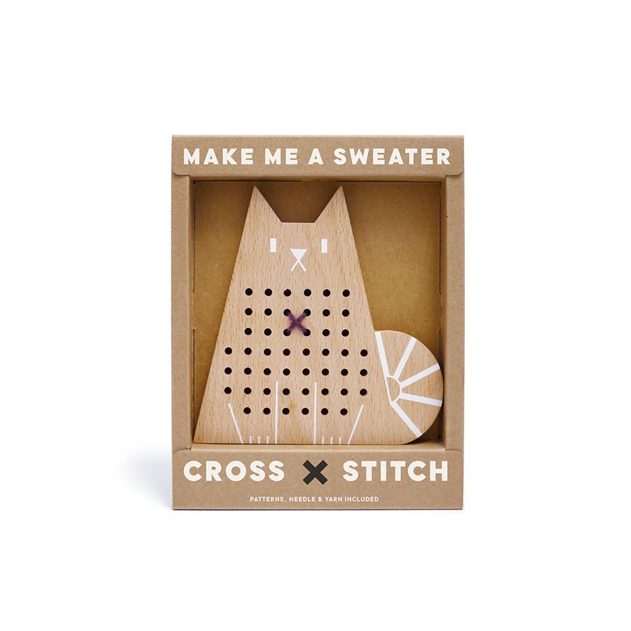 Cross Stitch Cat Kit - Letterfolk