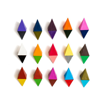 Diamond Two-Tone Crayon Set - Letterfolk