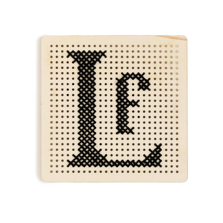 Peg Board Stitch Kit - Letterfolk