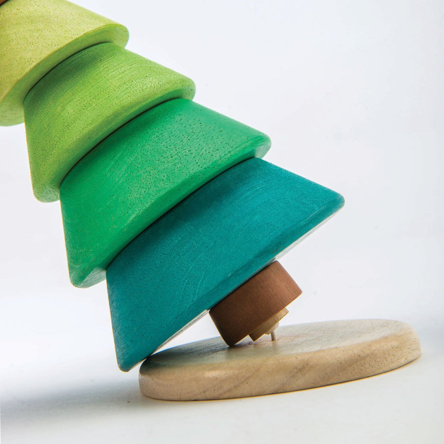 Wood Stacking Fir Tree - Letterfolk