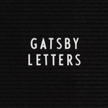 Additional Gatsby White Letter Set - Letterfolk