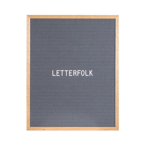 Writer Grey letter board by Letterfolk