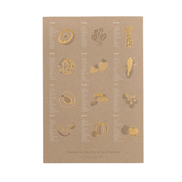 Seasonal Fruit & Veggies Print - Letterfolk