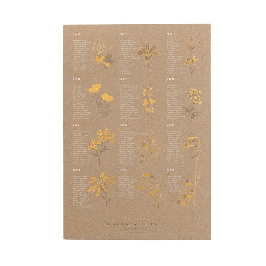 Seasonal Wildflowers Print - Letterfolk