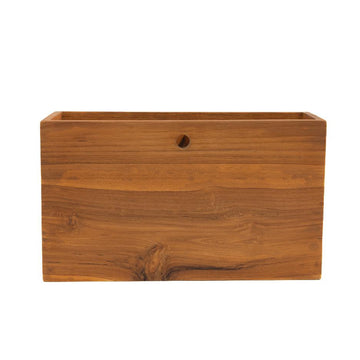 Teak Wall Basket - Letterfolk