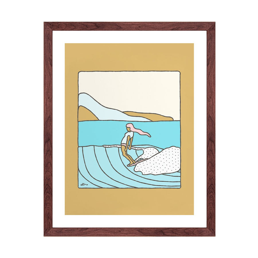 Slow is Fast Surf Print - Letterfolk