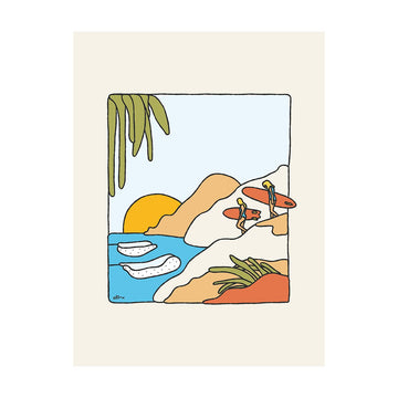 Flavor Country Surf Print - Letterfolk