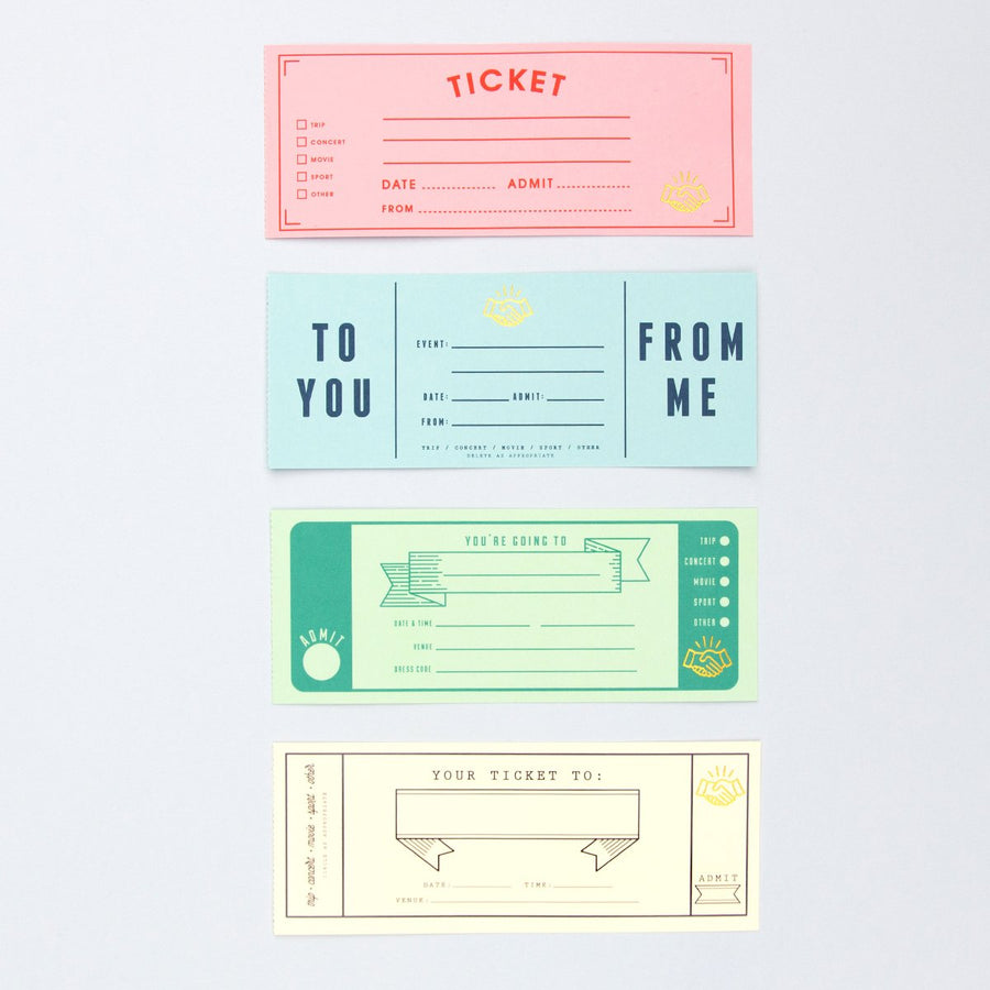 Personalized Ticket Book - Letterfolk