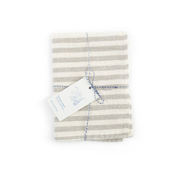 Washed Linen Tea Towel - Letterfolk