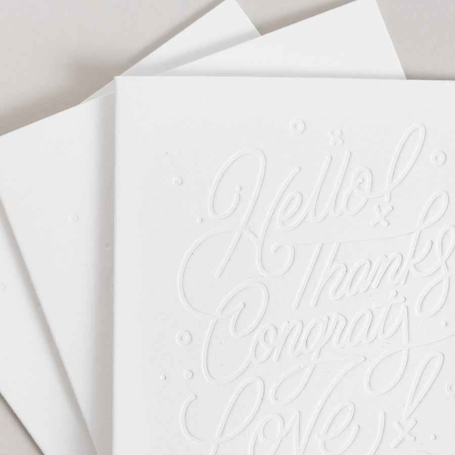 Lettering Color-In Greeting Cards 3-Pack - Letterfolk